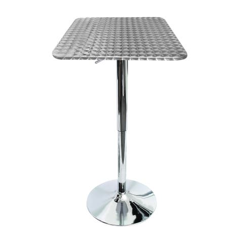 Stainless Steel Adjustable Bistro Bar Table - N/A