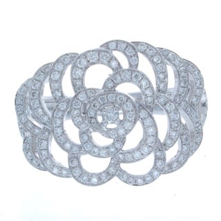 Victoria Kay 14k White Gold 3/5ct TDW White Diamond Floral Ring