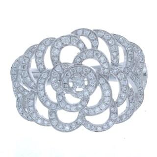 Victoria Kay 14k White Gold 3/5ct TDW White Diamond Floral Ring