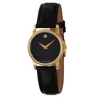 Movado Women's 'Collection' Yellow Gold-Plated Swiss Quartz Watch