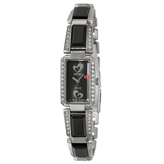 Seiko Women's 'Tressia' American Heart Association Edition Black-Dial Watch