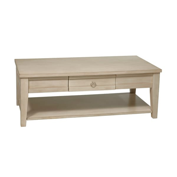 Shop Banyan Rustic Cream Coffee Table Free Shipping Today - Rustic cream coffee table