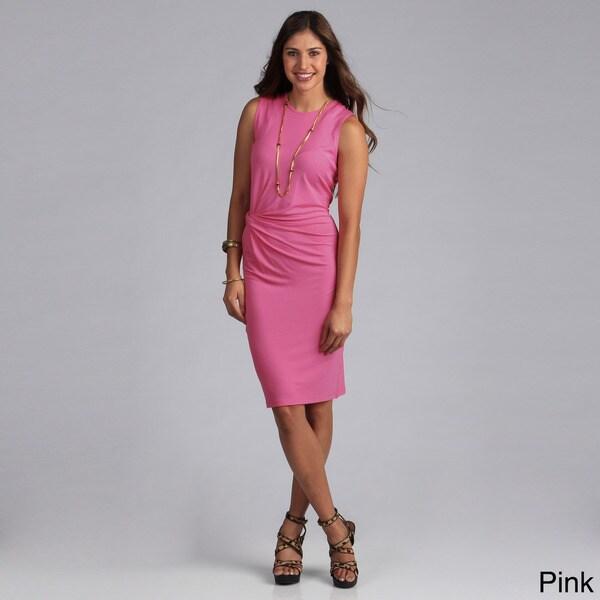 Biacci Women's Solid Side-twist Knit Dress
