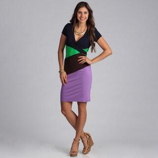 Biacci Women's Colorblocked Knit Dress