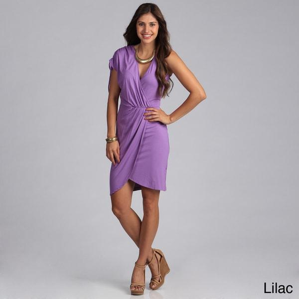 Biacci Women's Gathered Faux Wrap Dress