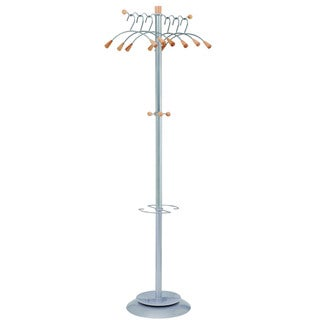 Alba Wavy Modern 6-hanger Coat Rack with Umbrella Holder