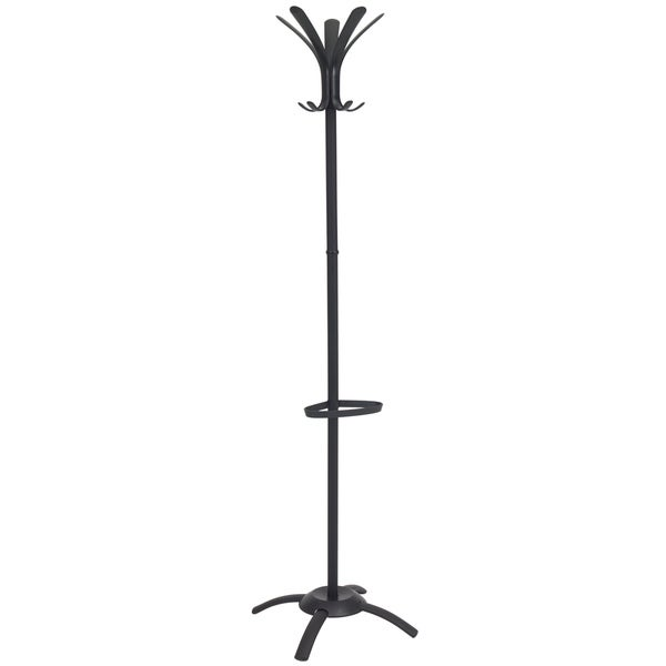 Grid Coat Rack In Office Accessories: Shop Cleo Contemporary Black Metal Coat Rack And Umbrella