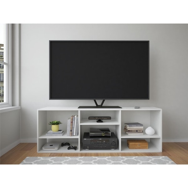 Shop Ameriwood Home Nash 60 Inch White Bookcase Tv Stand Free