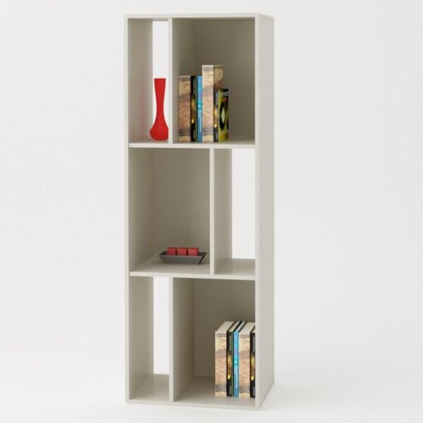 Altra White Bookcase/ TV Stand