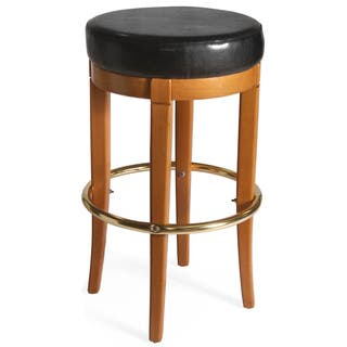 Desota 30 Inch Vintage Oak Swivel Bar Stool Free