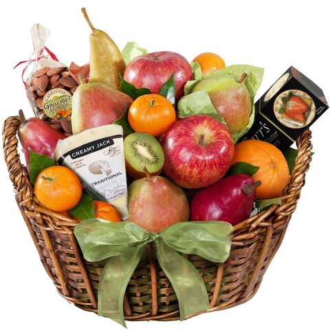 California Fruit Gifts Artisanal Cheese and Fruit Basket