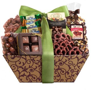 Caramel and Chocolate Extravaganza Gift Basket