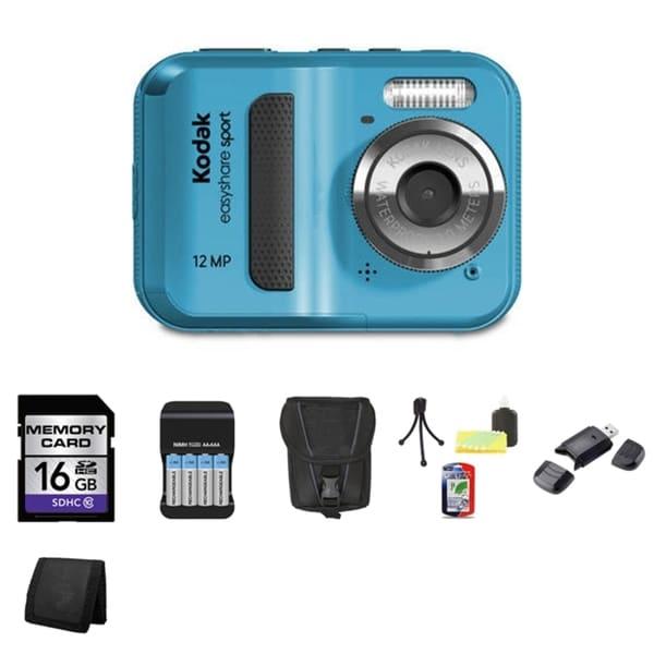 Kodak EasyShare Sport C123 Waterproof 12MP Digital Camera 16GB Bundle