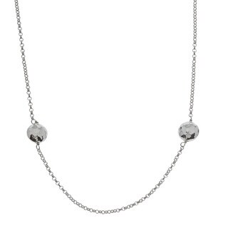 La Preciosa Sterling Silver Hammered Discs Necklace