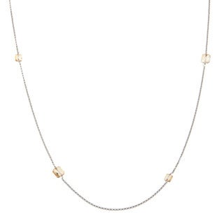 La Preciosa Sterling Silver 36-inch Necklace Made with SWAROVSKI Elements