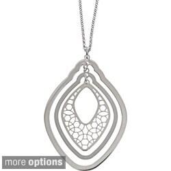 La Preciosa Sterling Silver Three-layer Shape Necklace