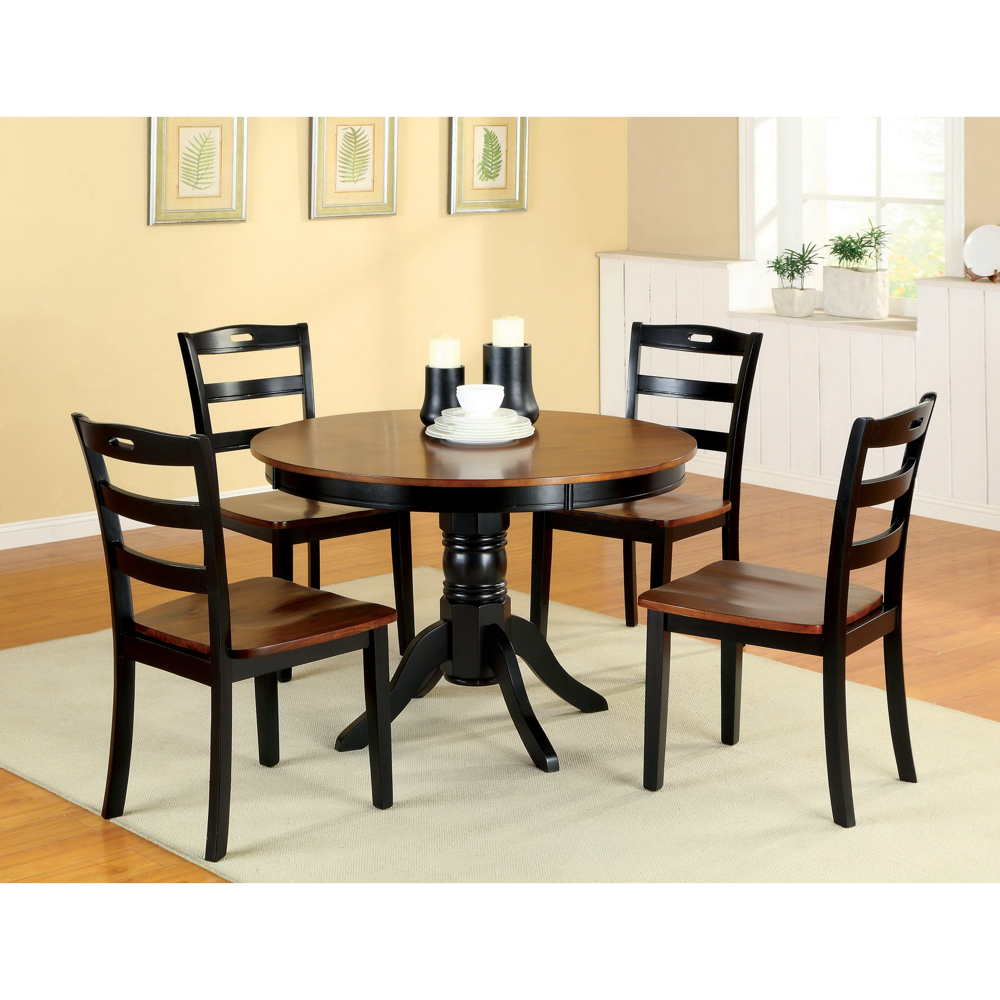 Furniture of America Zendell Two-tone 5-piece Dining Set ...