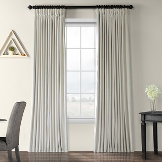 Exclusive Fabrics Off White Velvet Blackout Extra Wide Curtain Panel (3 options available)