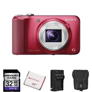 Sony Cyber-Shot DSC-H90 Red Digital Camera 32GB Bundle