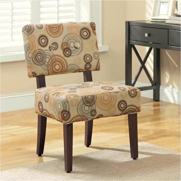 Shop Kennedy Circle Pattern Accent Chair Free Shipping
