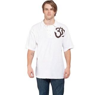 Cotton Men's Beach Om Shirt (Nepal)