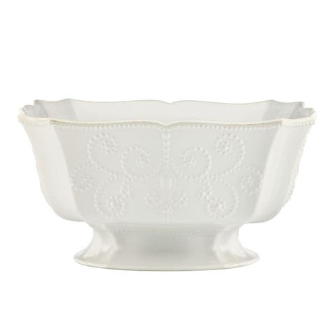 Lenox French Perle White Footed Centerpiece Bowl