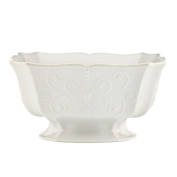 Shop lenox french perle white footed centerpiece bowl