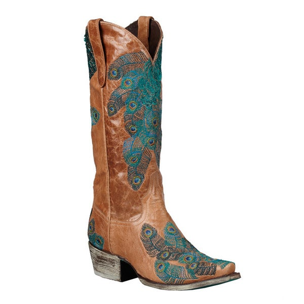Lane Boots Women's 'Tail Feather' Brown/Teal Cowboy Boots