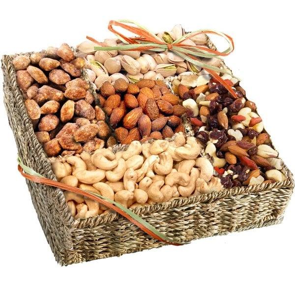 Organic Nut Selection Gift Basket