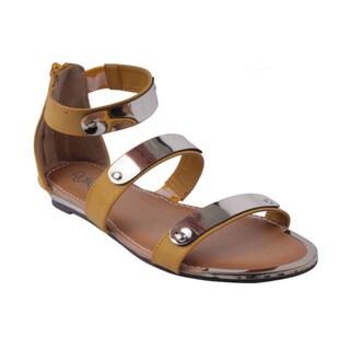Refresh by Beston Women's 'JETTA-04' Flat Sandals