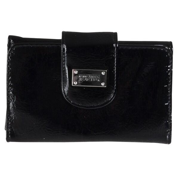 Kenneth Cole 'Reaction' Black Tri-fold Clutch Wallet