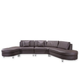 Copenhagen Brown 5-seat Sectional Lounge Sofa