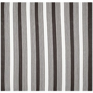 Thom Filicia Hand-woven Indoor/ Outdoor Brown Plastic Rug - 7' Square