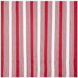 Thom Filicia Hand-woven Indoor/ Outdoor Red Plastic Rug - 7' x 7' Square