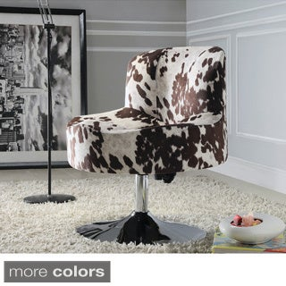Bridgeport Ergonomic Contour Swivel Modern Pedestal Accent Chair by TRIBECCA HOME