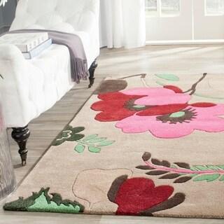 Safavieh Handmade Bella Sand/ Multi Wool Rug (4' x 6')