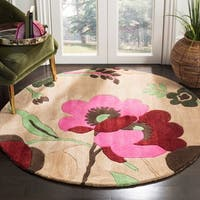 Safavieh Handmade Bella Sand/ Multi Wool Rug - 5' x 5' round
