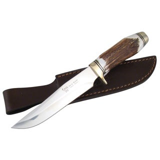Hen & Rooster 10-1/4'' Deer Stag Bowie