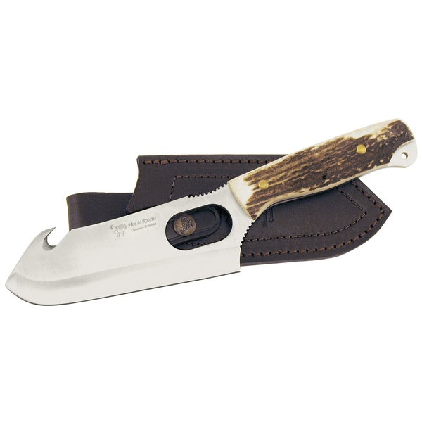 Hen & Rooster 10.5-inch Guthook Stag Bowie and Sheath
