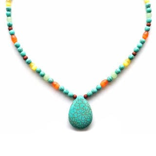 Every Morning Design Turquoise Vacation Necklace