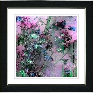 Studio Works Modern 'Rosebush - Green' Framed Print