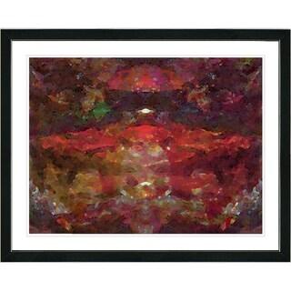 Studio Works Modern 'Voice - Red' Framed Fine Art Giclee Print