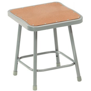 National Public Seating Hardboard Seat Square Stool