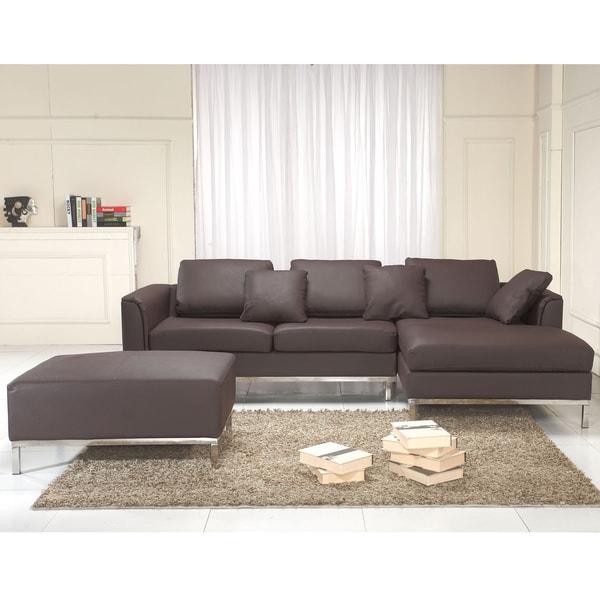 Genuine Leather Modern Sectional Sofa