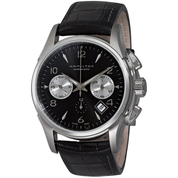 shop hamilton jazzmaster stainless steel auto chrono watch free shipping today. Black Bedroom Furniture Sets. Home Design Ideas