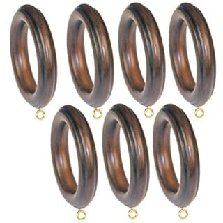 Menagerie Simplicity 2-inch Black Walnut Drapery Rings (Set of 7)