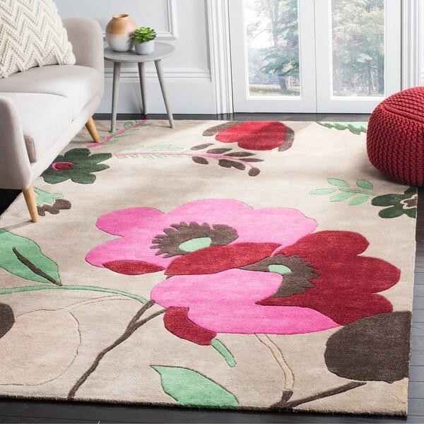 Safavieh Handmade Bella Sand/ Multi Wool Rug - 8' x 10'