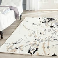Safavieh Handmade Bella Modern Abstract Ivory/ Grey Wool Rug - 4' x 6'