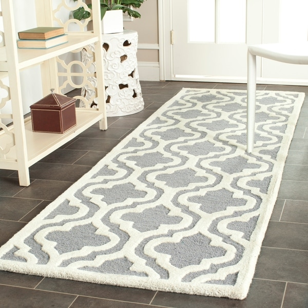 Shop Safavieh Handmade Moroccan Cambridge Silver Wool Rug