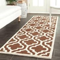 "Safavieh Handmade Cambridge Moroccan Dark Brown Wool Oriental Rug - 2'6"" x 12'"